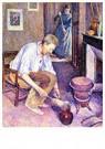 Maximilien Luce(1858-1941)  -  Coffee, 1892 - Postkaart -  A33545-1