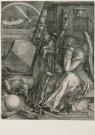 Albrecht Durer (1471-1528)  -  Melencolia I, 1514 - Postkaart -  A3507-1