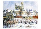 Gustave Loiseau (1865-1935)  -  Auxerres in the Snow, 1908 - Postkaart -  A35429-1