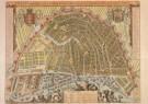 Anoniem,  -  Kaart van Amsterdam, 1689 - Postkaart -  A3661-1