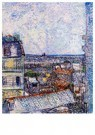 Vincent van Gogh (1853-1890)  -  View of Paris from Vincents Room in the Rue Lepic, 1887 - Postkaart -  A36992-1