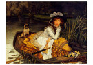 James Tissot(1836-1902)  -  Young Woman in a Boat, 1870 - Postkaart -  A38804-1