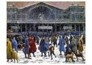 Maximilien Luce (1858-1941)  -  The Gare de l'Est in Snow, 1917 - Postkaart -  A38842-1