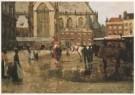 George H. Breitner (1857-1923) -  De Dam te Amsterdam - Postkaart -  A3892-1