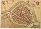 Joan Blaeu (1598-1673)  -  Plattegrond van Gouda - Postkaart -  A3893-1