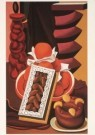 Auguste Herbin (1882-1960)  -  Stilleven met vruchten en gebak, 1926 - Postkaart -  A3919-1