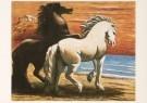 Chirico de Georgio (1888-1978) -  Twee paarden, 1926-27 - Postkaart -  A3934-1