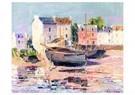 Gustave Loiseau (1865-1935)  -  Boats Beached in Port, circa 1913 - Postkaart -  A39547-1