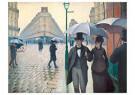 Gustave Caillebotte (1848-1894 -  Paris street, Rainy Day / Rue de Paris, temps de pluie, 1877 - Postkaart -  A40171-1