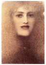 Fernand Khnopff (1858-1921)  -  The Red Lips, 1897 - Postkaart -  A41576-1