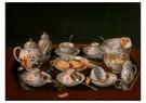 Jean-Etienne Liotard 1702-1789 -  Still Life: Tea Set, 1781-1783 - Postkaart -  A41647-1