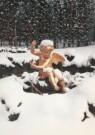 -  Putto in de sneeuw, koninginnetuin - Postkaart -  A4299-1