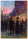 Maximilien Luce (1858-1941)  -  Paris, the Boulevards, Night - Postkaart -  A43621-1