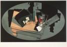 Juan Gris (1887-1927)  -  Stilleven met speelkaarten en siphon, 1916 - Postkaart -  A4522-1