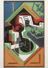 Juan Gris (1887-1927)  -  J.Gris/Stilleven met pijp/KM - Postkaart -  A4524-1