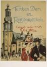 Martin Paerl  -  Tusschen Dam en Rembrandtplein, omslag bladmuziek - Postkaart -  A4548-1