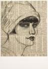 Harrie Kuyten (1883-1952)  -  H.Kuyten/Portret op Krant/MKB - Postkaart -  A4880-1