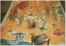 Marc Chagall (1887-1985)  -  Marc Chagall (1887-1985) temidden van de danseress - Postkaart -  A4939-1
