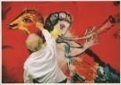 Marc Chagall (1887-1985)  -  Marc Chagall (1887-1985) werkt aan de schildering - Postkaart -  A4942-1