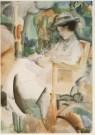 Piet Wiegman (1885-1963)  -  Lezende dame, ca. 1920 - Postkaart -  A5106-1
