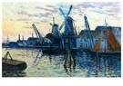 Maximilien Luce (1858-1941)  -  Mills in Holland, 1908 - Postkaart -  A52888-1