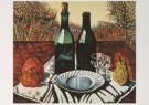 Charlie Toorop (1891-1955)  -  Fles vrucht bord, - Postkaart -  A5783-1