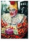 Charlie Toorop (1891-1955)  -  Clown voor ruines van Rotterdam, 1940-41 - Postkaart -  A5815-1