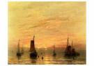 Hendrik W. Mesdag (1831-1915)  -  Summer Sunset, Scheveningen, - Postkaart -  A58169-1
