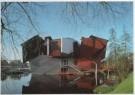 Jannes Linders (1955)  -  Groninger Museum exterieur, paviljoen wisselende t - Postkaart -  A5871-1