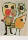 Karel Appel (1921-2006)  -  Figuur met vogel - Postkaart -  A6196-1