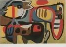 Karel Appel (1921-2006)  -  Optocht der dieren, 1951 - Postkaart -  A6198-1
