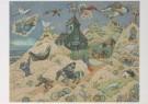 Jaap Oudes (1895-1969)  -  J.Oudes/Vlucht door het duin - Postkaart -  A6228-1