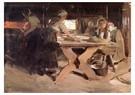 Anders Zorn (1860-1920)  -  Baking Bread (study), 1889 - Postkaart -  A62444-1