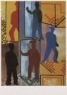 Hendrik Nic.Werkman (1882-1945 -  Draaideur van het postkantoor, 1941 - Postkaart -  A6311-1