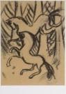 Gerrit Benner (1897-1981)  -  Paarden in het bos - Postkaart -  A6394-1