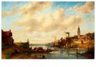 Charles Leickert (1816-1907)  -  The Ferry, 1867 - Postkaart -  A64107-1