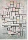 Piet Mondriaan (1872-1944)  -  Compositie nr. 6, 1914 - Postkaart -  A6588-1