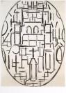 Piet Mondriaan (1872-1944)  -  Kerk te Domburg - Postkaart -  A6602-1