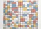 Piet Mondriaan (1872-1944)  -  Compostie schaakbord licht - Postkaart -  A6621-1