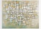Piet Mondriaan (1872-1944)  -  Compositie in lijn en kleur, 1913 - Postkaart -  A6725-1