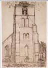Mondriaan (1872-1944)Mondrian  -  Mondriaan/ Kerk te Domburg/HGM - Postkaart -  A6788-1