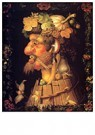 G. Arcimboldo 1526/30-1593  -  The Four Seasons (Louvre Series) 03 - Autumn, 1573 - Postkaart -  A69971-1