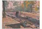 Johan Dijkstra (1896-1978)  -  Spilsluizen met de Boteringebrug - Postkaart -  A7269-1