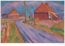Johan Dijkstra (1896-1978)  -  Landweg met boerderijen - Postkaart -  A7271-1