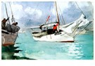 Winslow Homer (1836-1910)  -  Fishing Boats, Key West, 1903 - Postkaart -  A73059-1