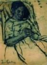 Suze Robertson (1855-1922)  -  Rustende vrouw - Postkaart -  A7376-1