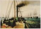 A. P. Bogoljubov (1824-1896)  -  Inspectie van de Baltische vloot door keizer Nicol - Postkaart -  A7522-1