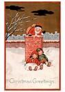 Anonymus  -  Kinderen slapen tegen de schoorsteen aan en kerstman gaat de - Postkaart -  A75369-1