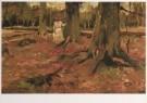 Vincent van Gogh (1853-1890)  -  Haagsee bos met meisjesfiguur in het wit - Young g - Postkaart -  A7572-1