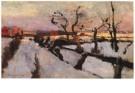 Floris Verster (1861-1927)  -  Sneeuwstudie - Postkaart -  A7667-1